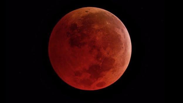 Tam Ay tutulması.