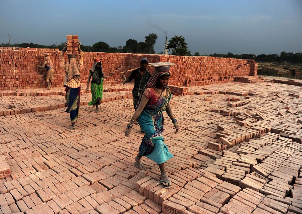 A brick factory in Uttar Pradesh