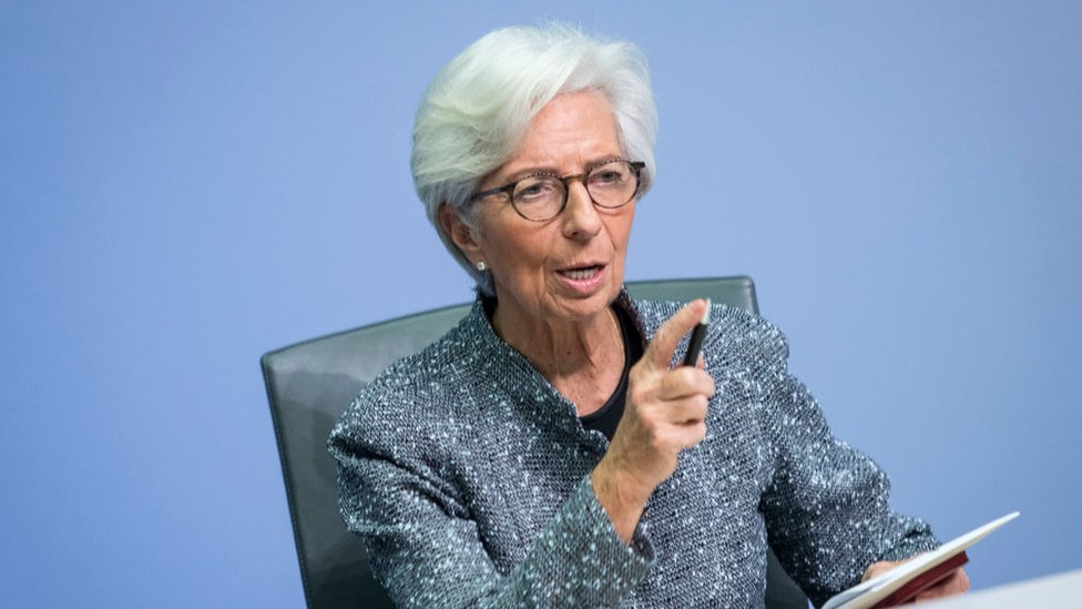 Christine Lagarde, President of the European Central Bank.