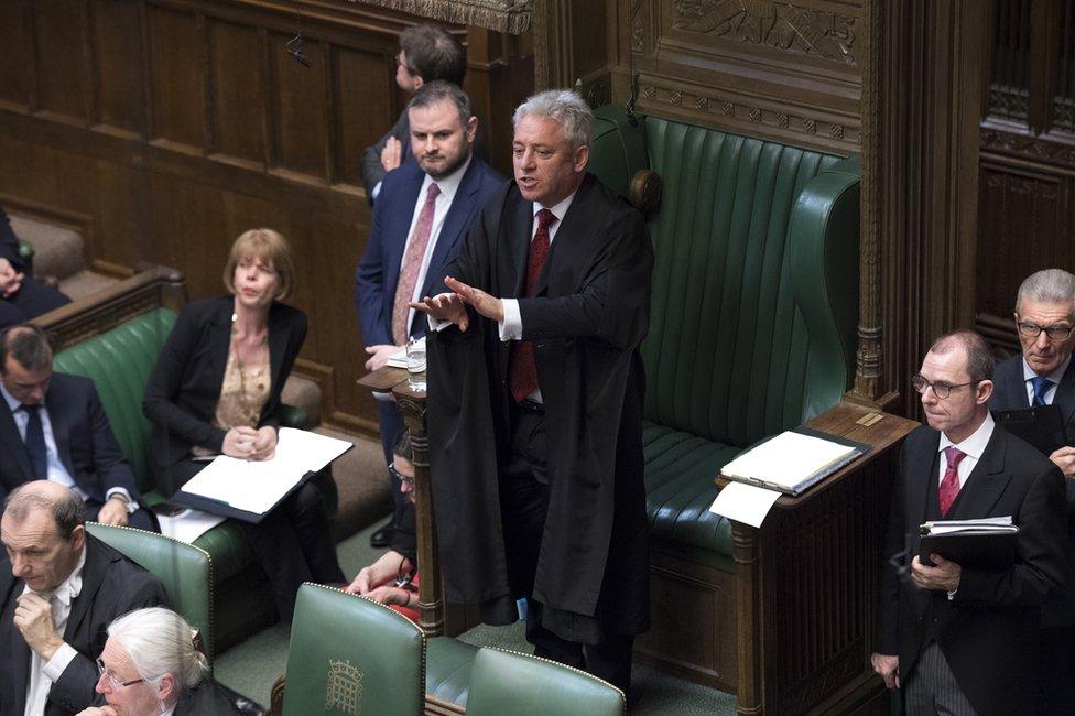 Speaker John Bercow gives directions