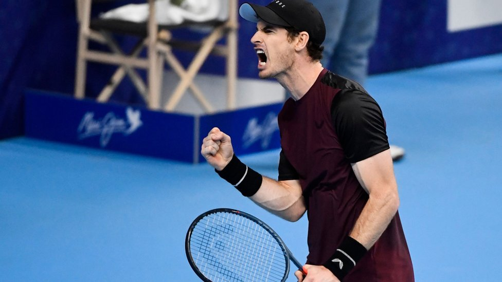 Andy Murray in the European Open final