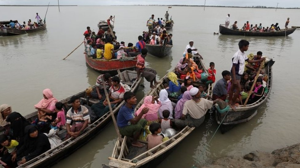 Rohingya refugees arrive from Myanmar in Bangladesh. Photo: 7 October 2017