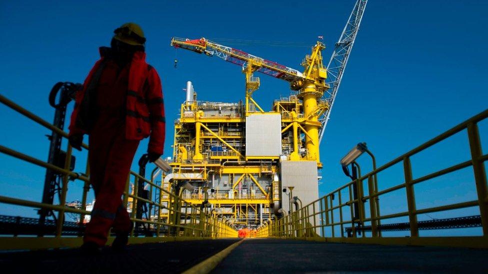 worker on oil platform