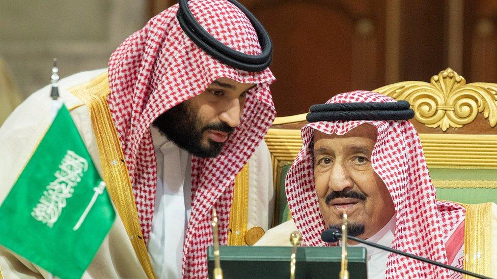 الملك السعودي وولي العهد