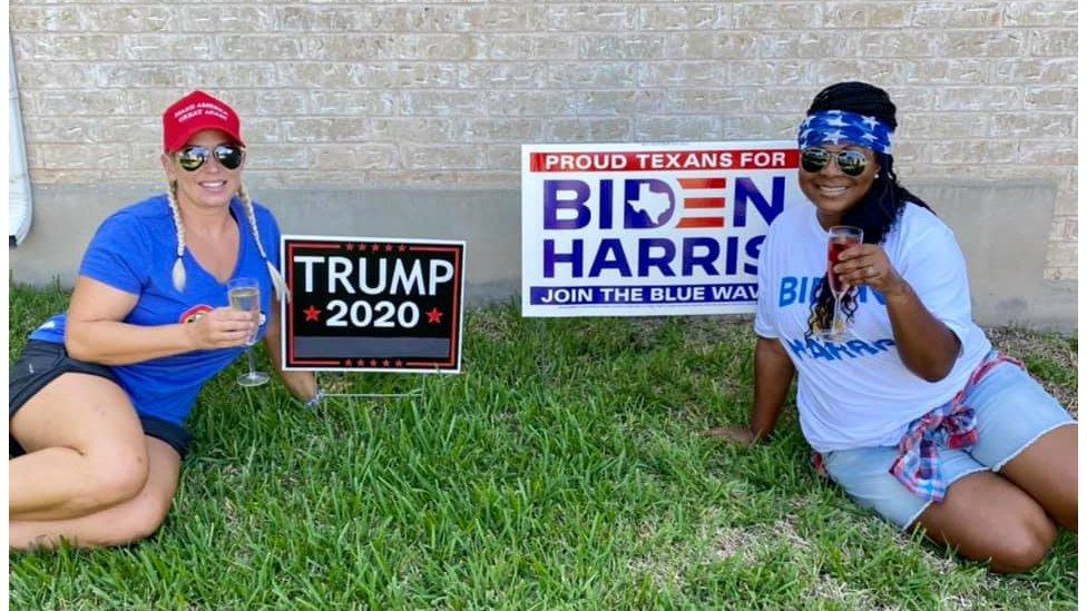Marne Litton and her neighbour Tasha Hancock