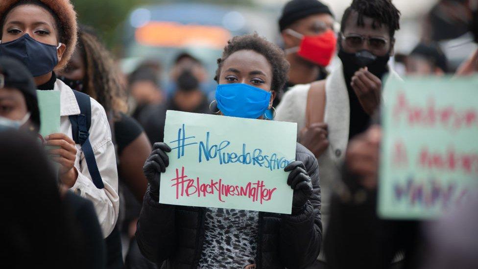 Protesta contra el racismo en Colombia