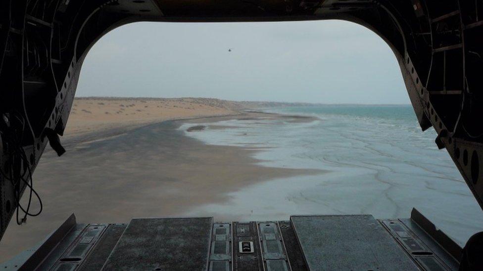 View from plane of Yemen