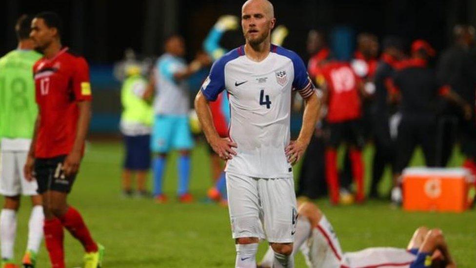 Es la primera vez desde 1986 que EE.UU. no esta en un Mundial.
