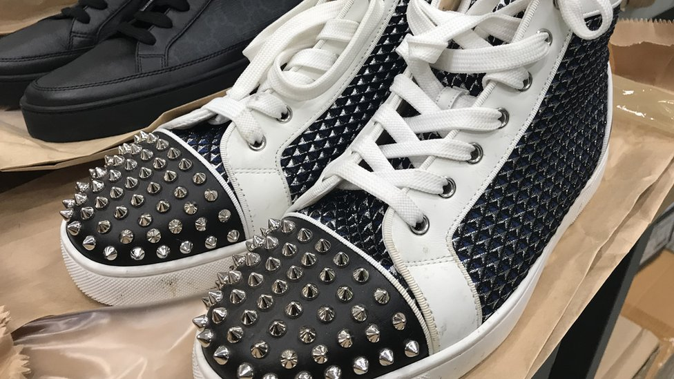 designer trainers up for auction - BBC News