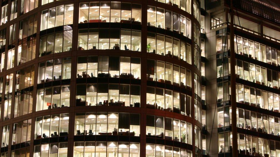 Office block at night