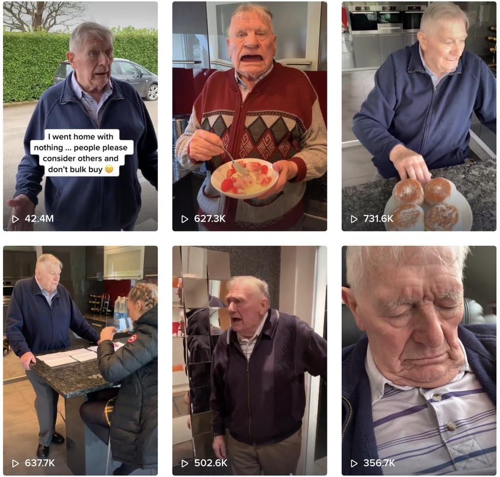 A selection of Joe Allington TikTok videos