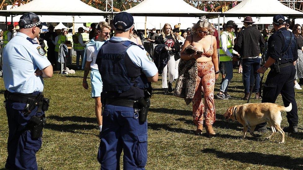 festival i ljudi na festivalu