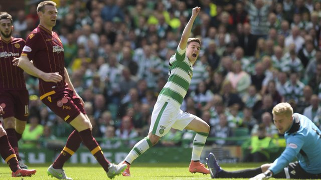Jack Aitchison scores against Motherwell