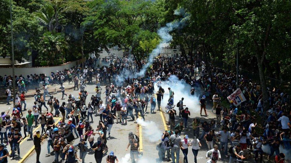 Protestas antigubernamentales de 2017 en la Universidad Central de Venezuela (UCV)