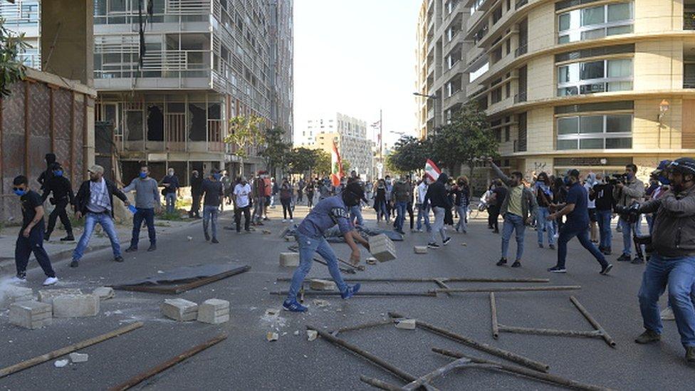 Beyrut protesto