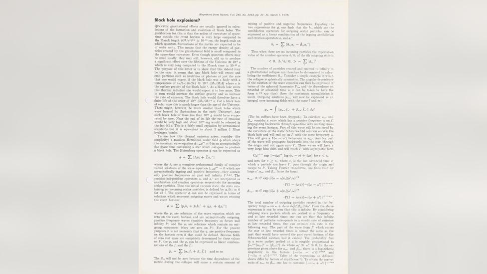 Stephen Hawking paper