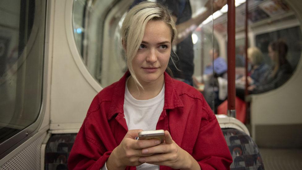 Жінка у метро