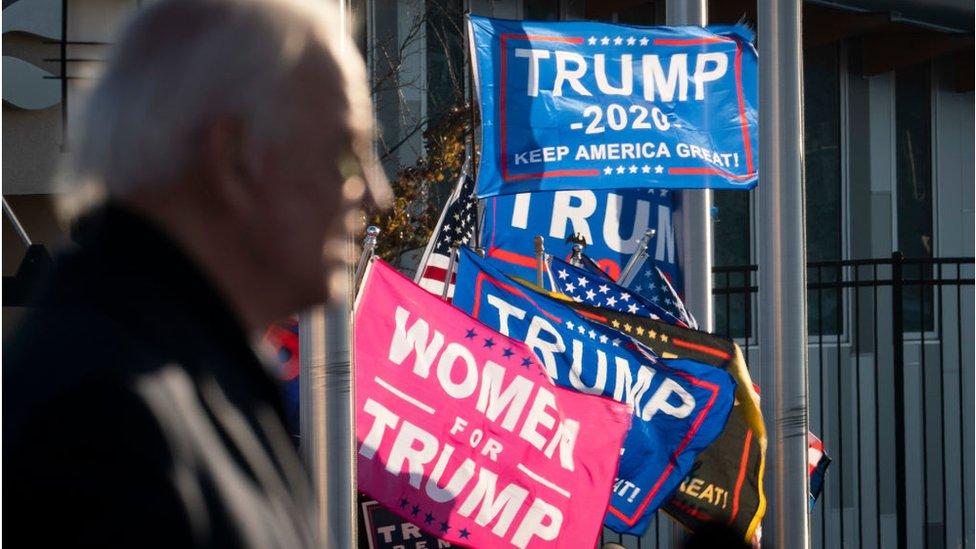 Biden was heckled by Trump supporters as he spoke in Minneapolis