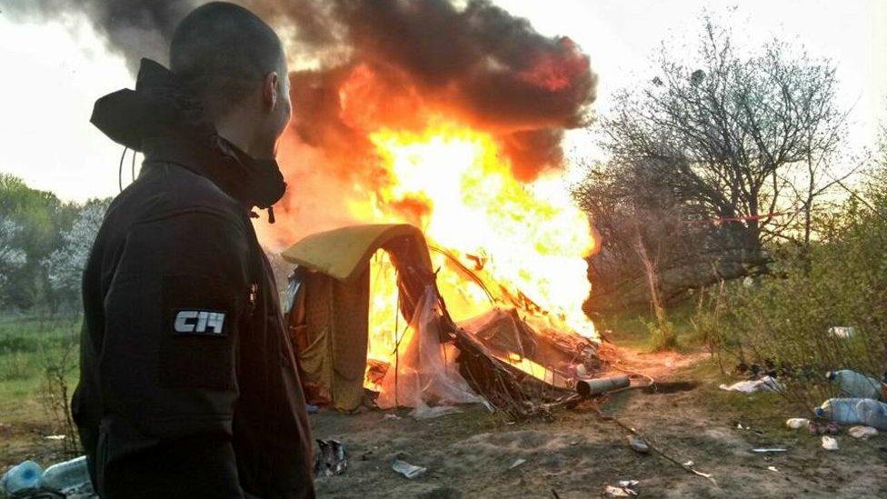 Члена С14 відправили під домашній арешт через знесення ромського табору