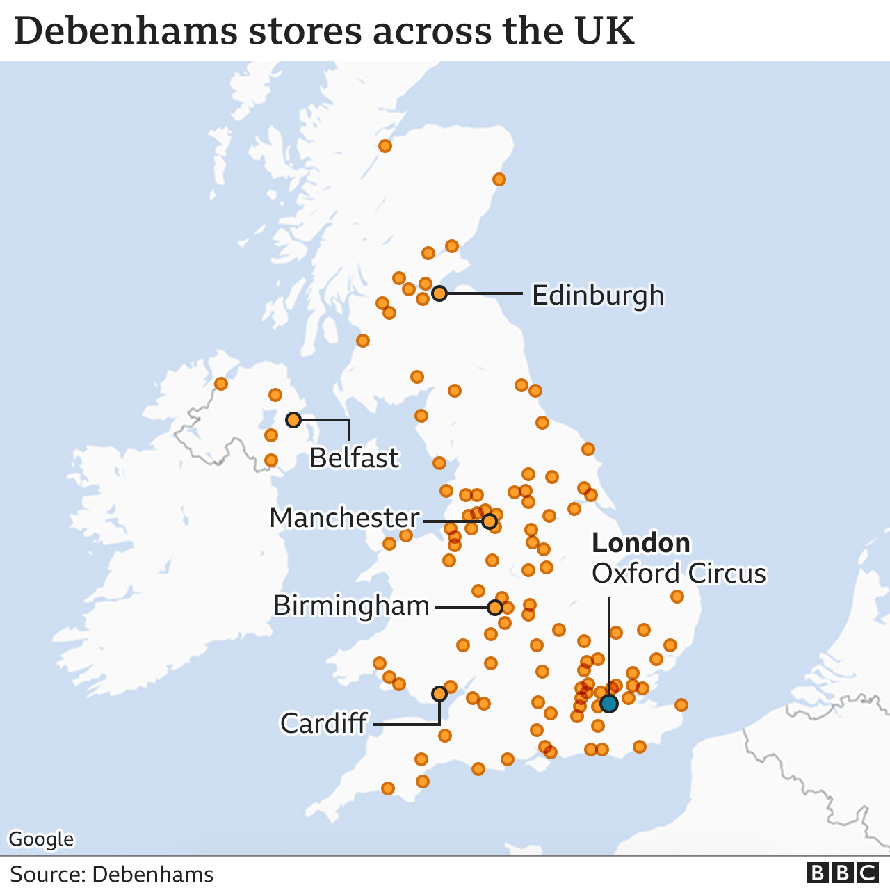 Debenhams set to close putting 12,000 jobs at risk thumbnail