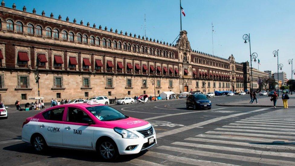 Un taxi en Ciudad de México