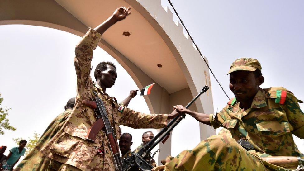 Soldiers in Sudan