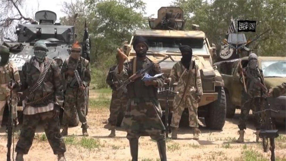 مسلحون من بوكو حرام يرفعون لواء تنظيم الدولة