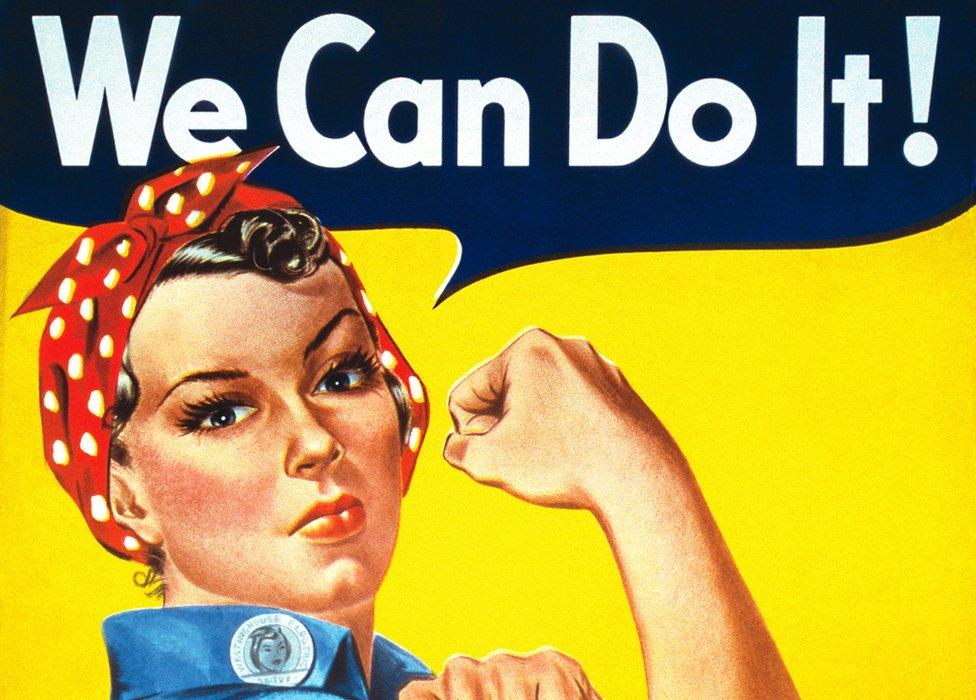 """Cartel de """"We can do it""""."""