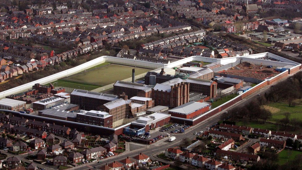 Aerial view of HM Prison Liverpool