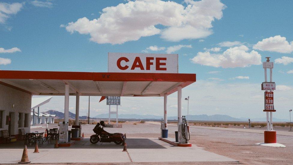 美國的一個加油站