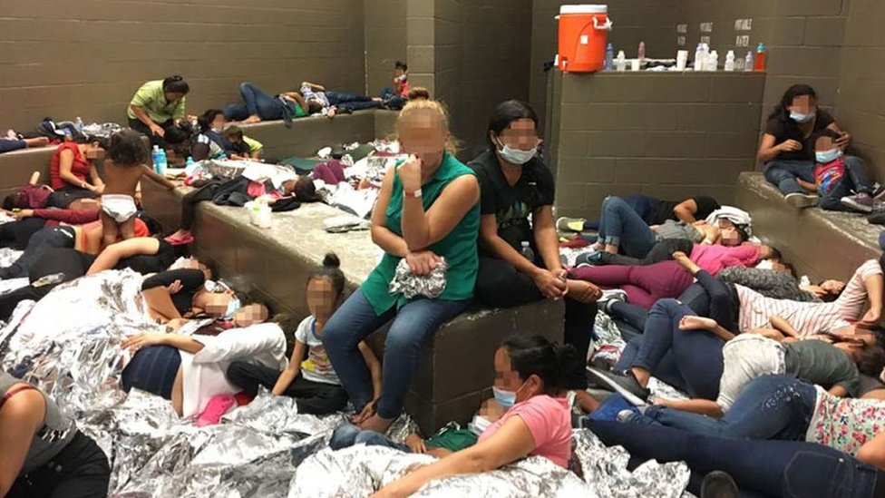 Overcrowding of families observed by Officer Inspector General on 11 June at a facility in Weslaco, Texas