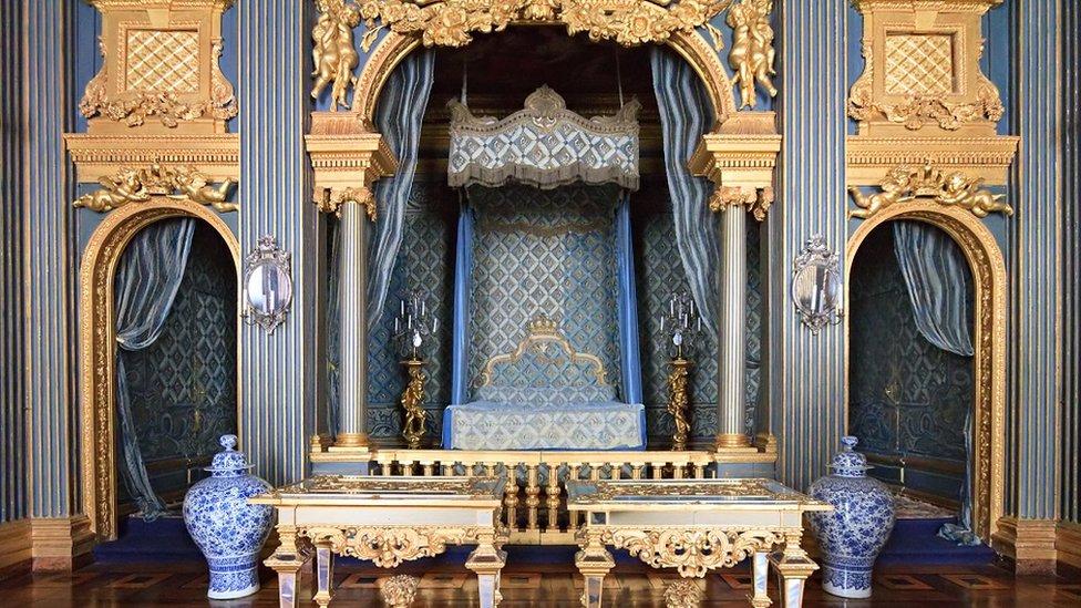 Plava spavaća soba u švedskoj palati
