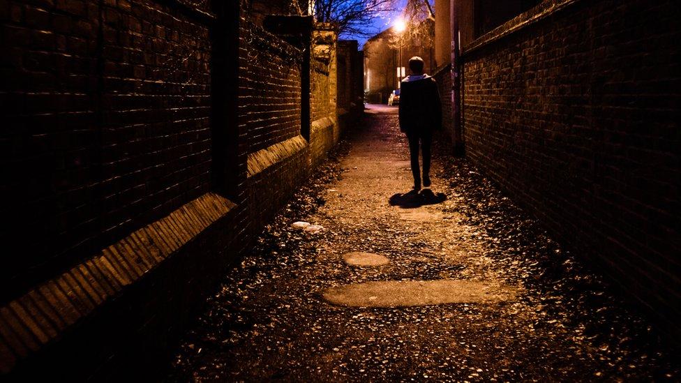 Walking home in the dark