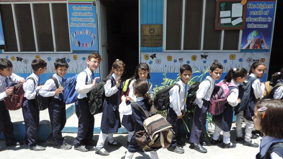 Pupils at Sawera school (June 2015)