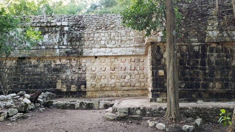 Sitio arqueológico en Kulubá, México