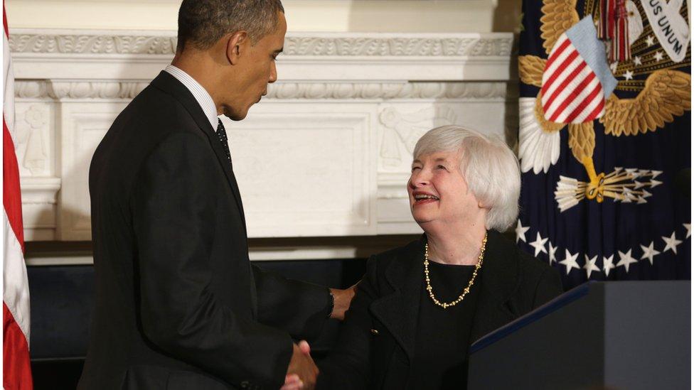 Janet Yellen and Barack Obama
