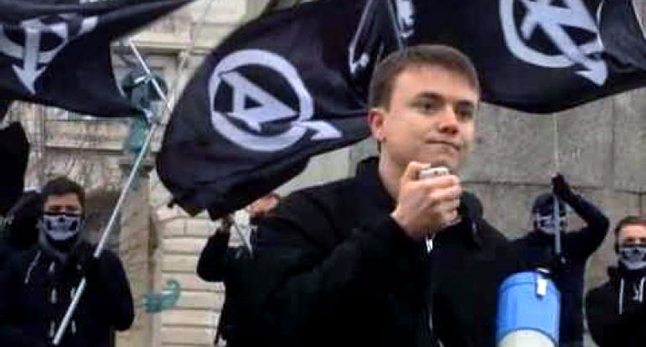 Jack Renshaw at a National Action rally - (NA propaganda material)
