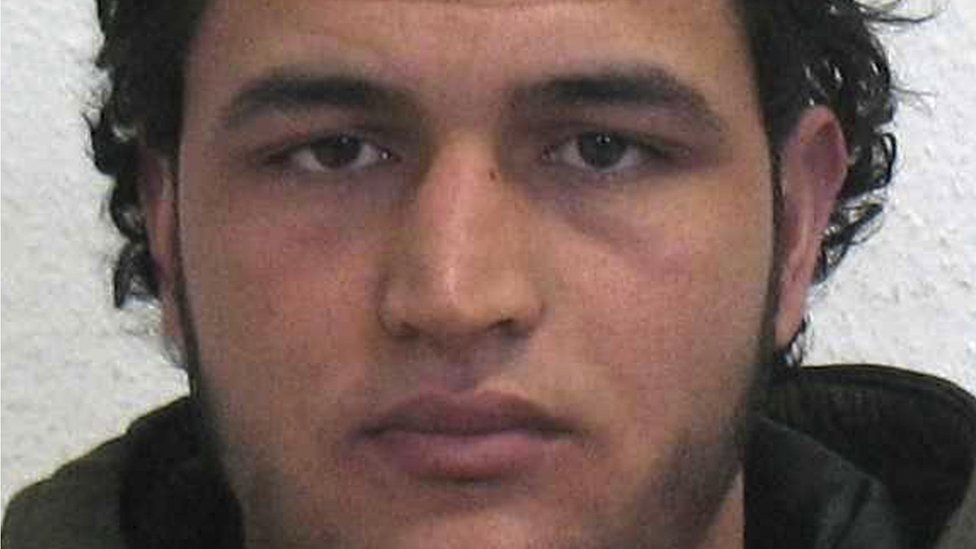 A photo issued by German police of Tunisian Anis Amri, who is suspected of being involved in the fatal attack on the Christmas market in Berlin on 19 December 2016