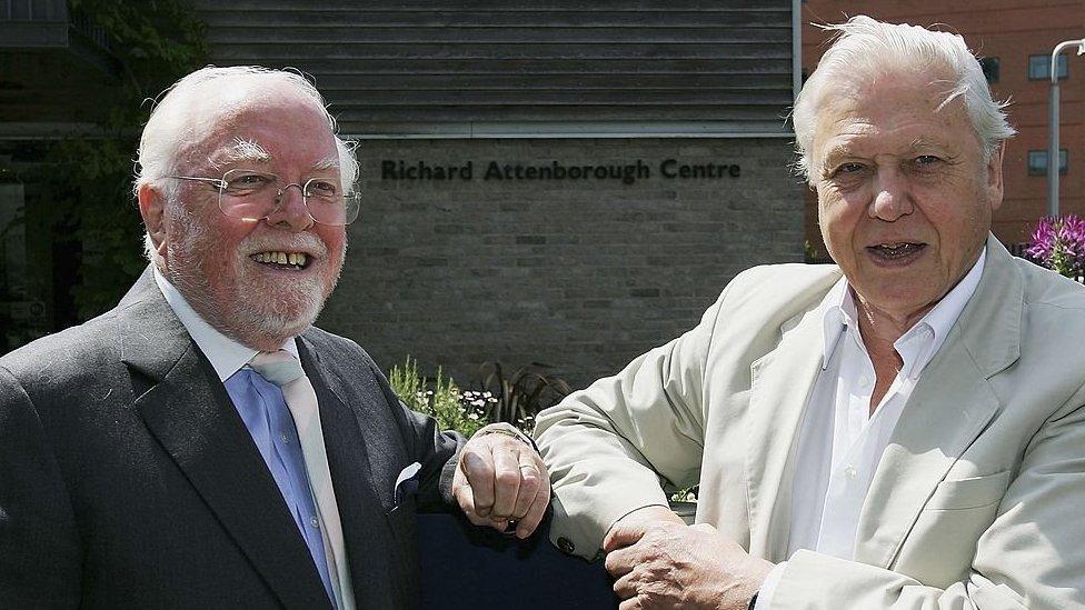 Richard y David Attenborough en 2010