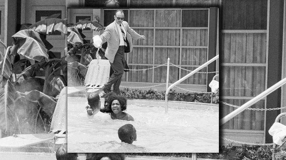 Piscina en Florida en 1964
