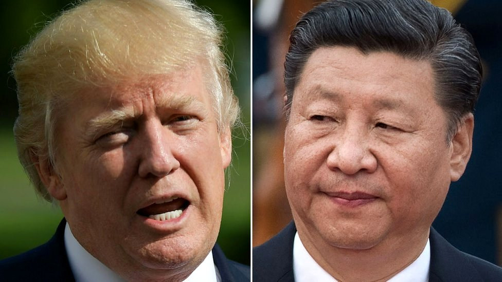 美國總統唐納德·特朗普和中國國家主席習近平
