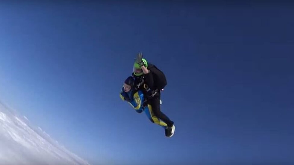 Holly skydiving