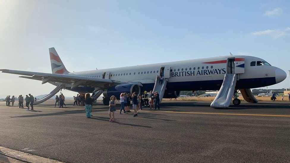 Flight BA422 after landing in Valencia