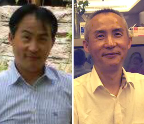 The before and after shots provided by Le Heping's wife