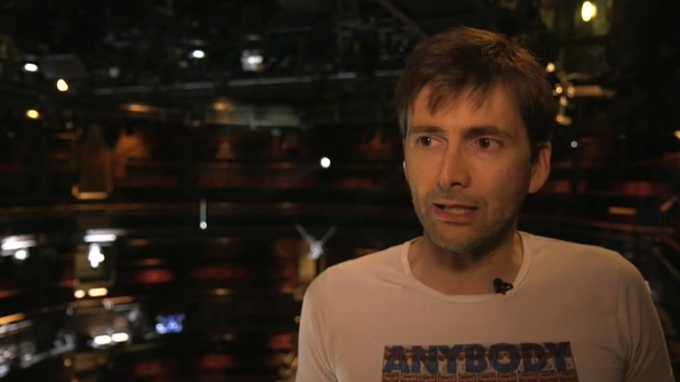 David Tennant being interviewed at the RSC in Stratford-upon-Avon