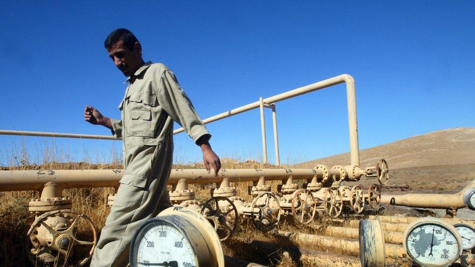 Campo petrolero en Irak
