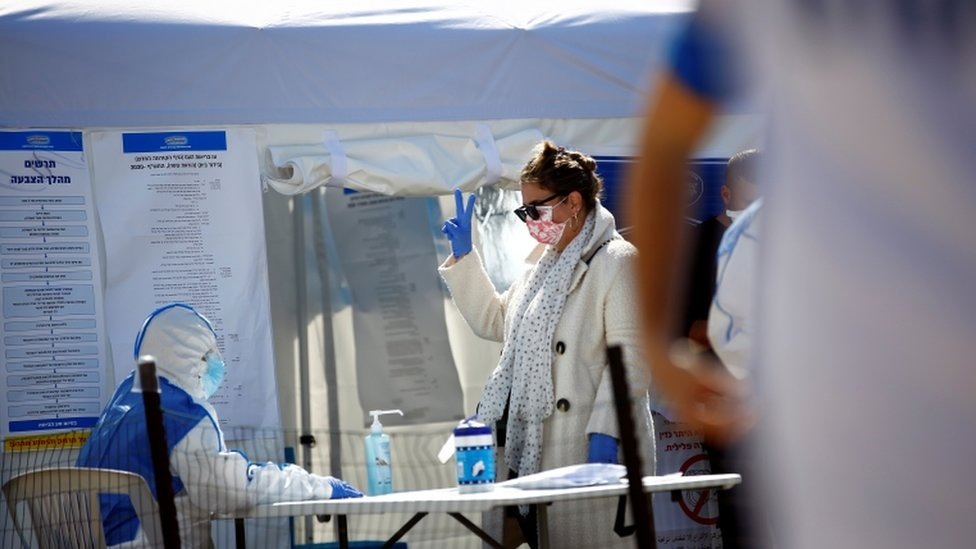 Israel set up a dedicated polling station where people under quarantine could vote in Monday's general election