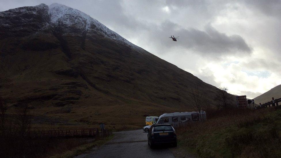 helicopter in Glencoe