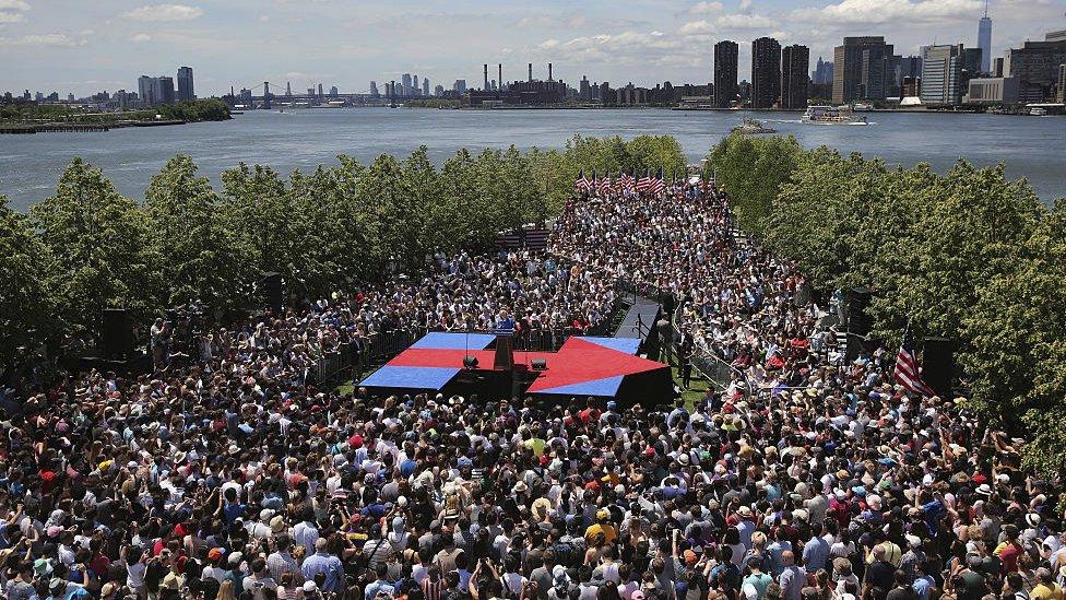 Hillary Clinton rally in New York