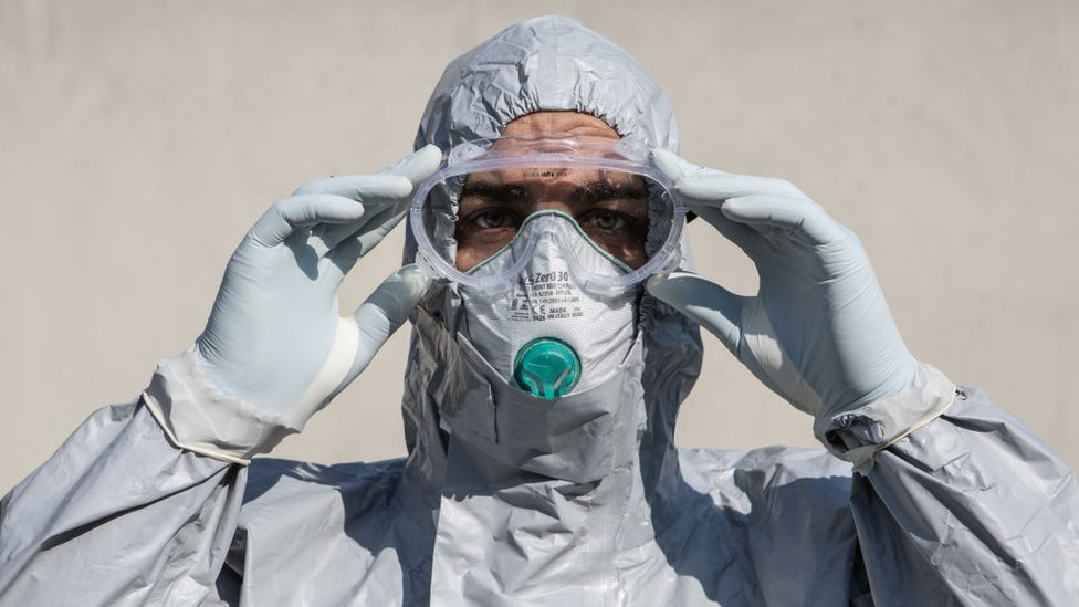 A doctor in full PPE